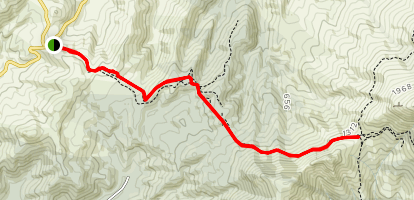 Packhorse Hut from Gebbies Pass via the Mount Herbert Walkway Map