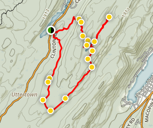 Terrace Pond Loop Map