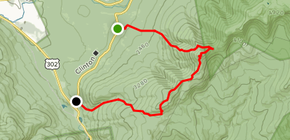 Mount Eisenhower and Mount Pierce Map