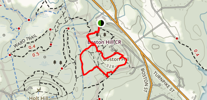Elephant Rock and Vetter Trail Loop Map