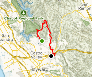 Bay Area Ridge Trail - Proctor Gate to Don Castro Map