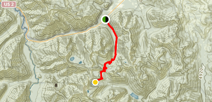 Devil Creek to Elk Lake Map