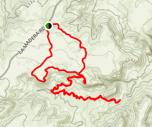 Mesa Loop and Golden Open Space Trail Map