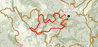 Montagne Bourbonnaise n°15 Map