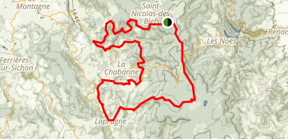 Montagne Bourbonnaise n°42 Map