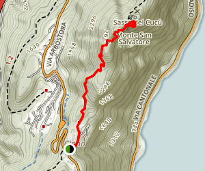 Monte San Salvatore from Ciona Map