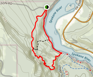 Spokane River Centennial Trail Loop Map