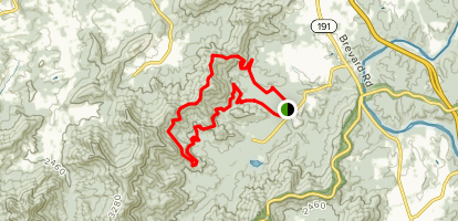 Wolf Knob and Little Hickory Top Loop Map