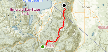 TRT: Big Meadow to Daggett Pass Map