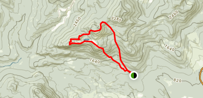 Tumbledown and Little Jackson via Parker Ridge Trail Map