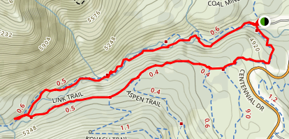 Ribbon Falls Loop Map
