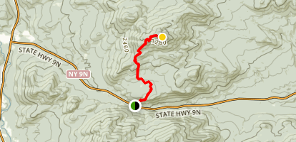 Hurricane Mountain Trail Southern Approach Map