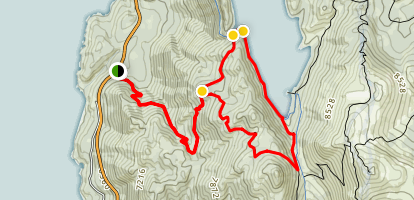 Marlette Lake and Chimney Beach Loop Trail Map