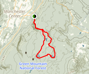 Bourn Pond and Stratton Pond via Long Trail (Appalachian Trail) Map
