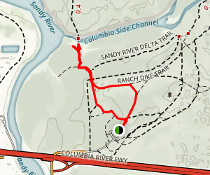 Sandy River Delta Trail Map