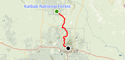 Stage Coach Route- Grand Canyon to Flagstaff Map