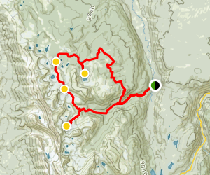 Camp Lakes, Rawah Lakes, and Twin Crater Lakes Loop Trail Map