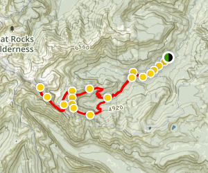 Gilbert Peak and Warm Lake Loop Map