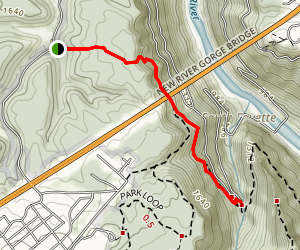 Bridge Trail to Fayette Trail  Map