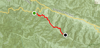 Inspiration Point to Guffy Campground PCT Map