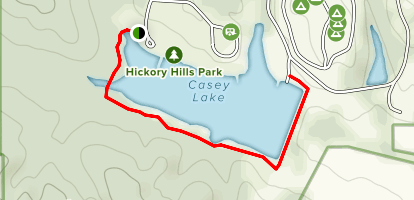 Casey Lake Trail Map