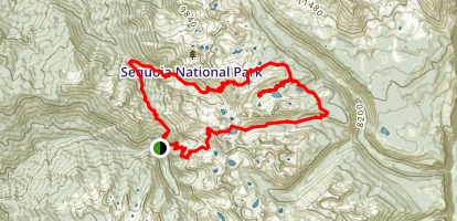 Mineral King: Black Rock Pass Loop Map