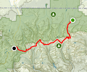 Henry's Fork to Mirror Lake Map