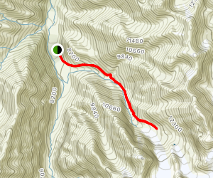 Ala-Archa to Ak-Sai Racek Hut and Glacier Map