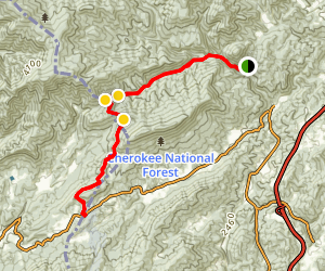 Rocky Fork to Devil's Gap Map