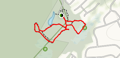 Orange and Red Loop Trails Map