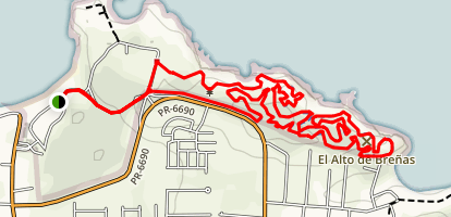 Cerro Gordo Balneario Mountain Bike Trail Map