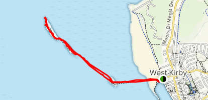 Tidal Footpath to Hilbre Island Map