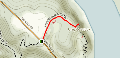 Urey Overlook via Mason-Dixon Trail Map