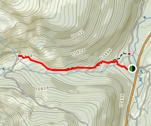 Lower McCullough Gulch Trail Map