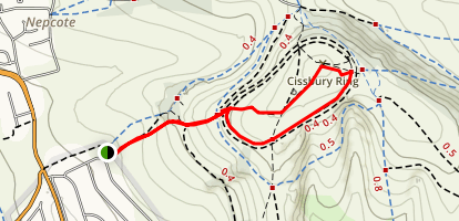 Cissbury Ring Map