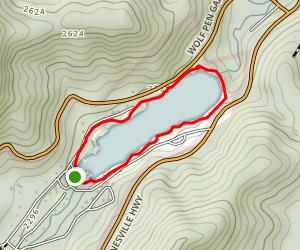 Lake Trahlyta Trail Map
