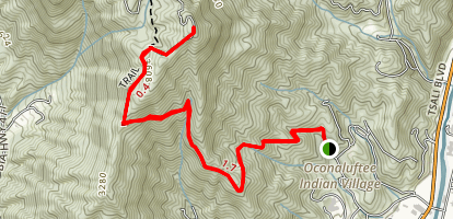 Mount Noble Fire Tower Map