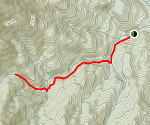Brandy Creek Falls Trail Map