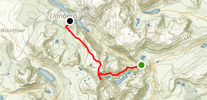 Snowdon and Llanberis Tracks Map