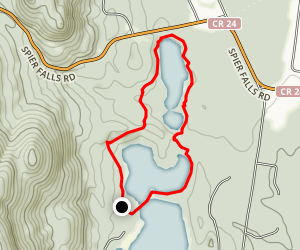 Moreau Lake Nature Trail and Mud Pond Walk Map