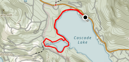 Cascade Lake Lagoon Map