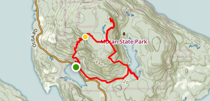 False Summit, Lookout Tower, and Mountain Lake Loop Map