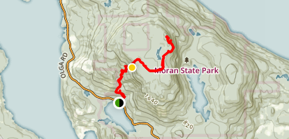 Mount Constitution From Cascade Lake Map