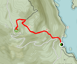 Little Summit from Mountain Lake Map