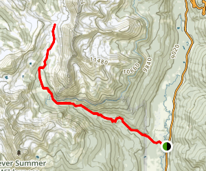 Baker Pass via Baker Gulch Map