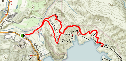 East Shore Loop to Lake Del Valle Map