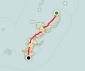 Okinawa Distance Hike (3-day North-South) Map