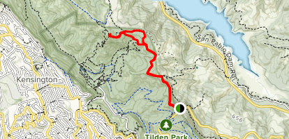 Inspiration Point to Wildcat Peak Map