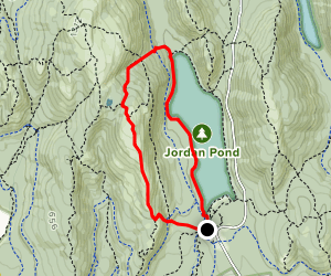 Spring, Penobscot Mountain, Deer Brook and Jordan Pond Path Loop Map