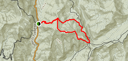Unicoi Gap and Indian Grave Gap Loop Map